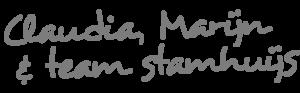 Handtekening Claudia en Marijn en team Stamhuijs